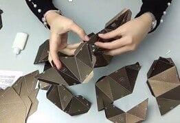 Instrukcja montażu 3D origami PAPERRAZ