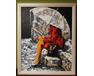 Rama z MDF do obrazów 40cm*50cm, kolor akacja ramy do obrazów
