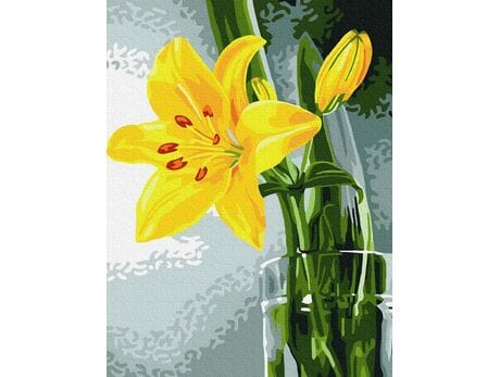 Żółta lilia malowanie po numerach