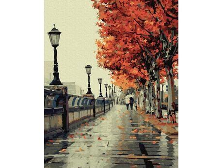 Jesienny spacer malowanie po numerach