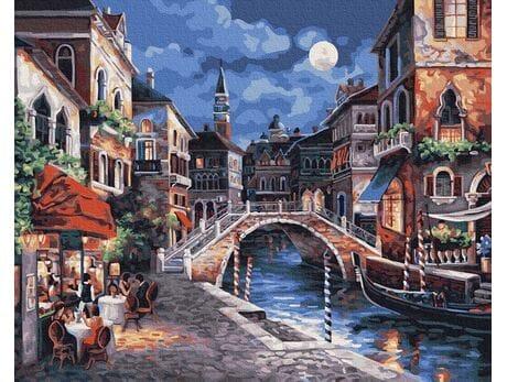 Nocna Wenecja malowanie po numerach