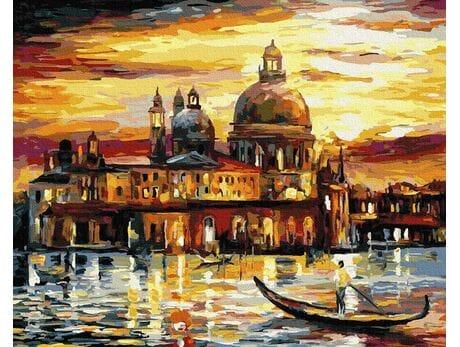 Złote niebo Wenecji malowanie po numerach