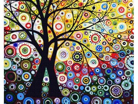 Drzewo pieniędzy malowanie po numerach