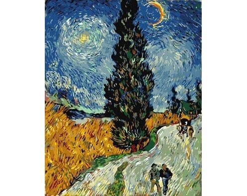 Droga z cyprysami i gwiazdą (Van Gogh)