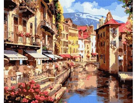 Stare uliczki Europy malowanie po numerach