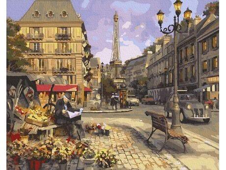 Kwiaciarnia w Paryżu malowanie po numerach