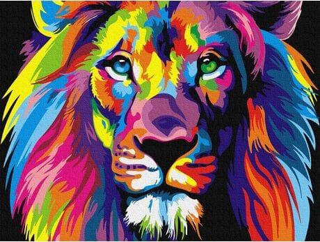 Lew malowanie po numerach
