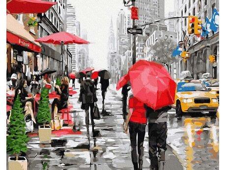 Deszcz w Nowym Jorku malowanie po numerach