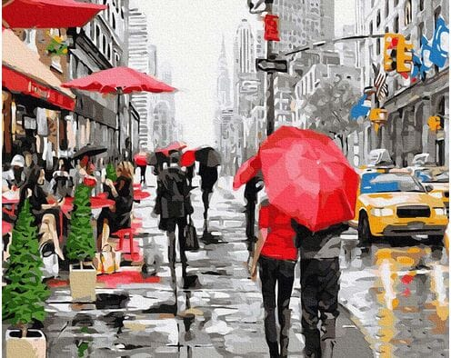 Deszcz w Nowym Jorku