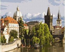 Rzeka Wełtawa. Praga