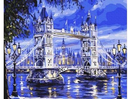 Londyn w świetle księżyca malowanie po numerach