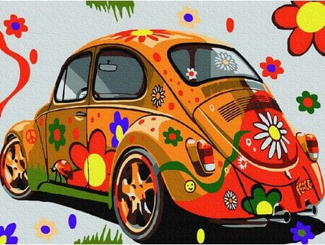 Kolorowa podróż malowanie po numerach