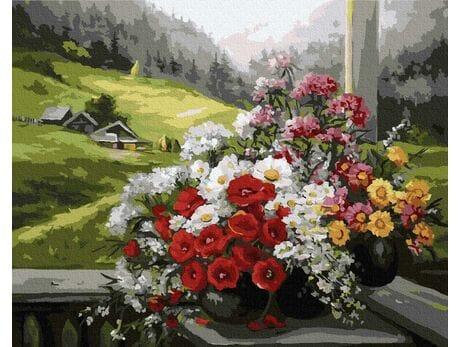Alpejski krajobraz malowanie po numerach