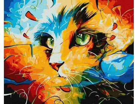 Kocie spojrzenie malowanie po numerach