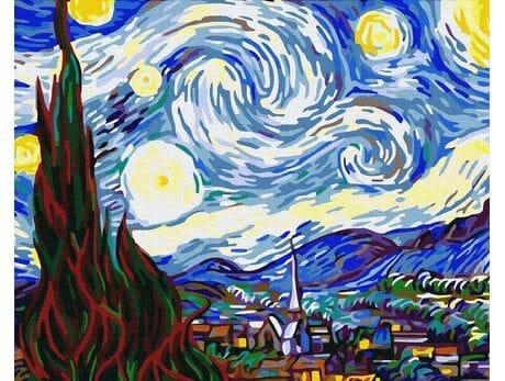 Gwiaździsta noc (Van Gogh) malowanie po numerach
