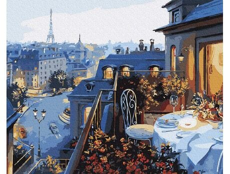 Kolacja w Paryżu malowanie po numerach