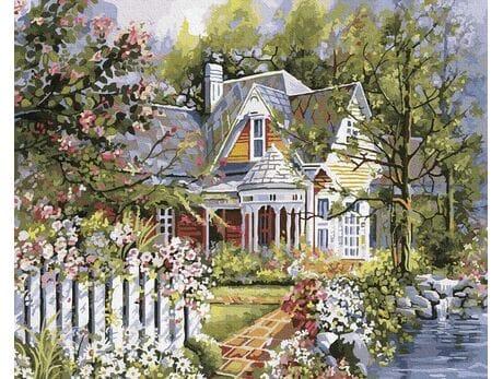 Letni domek malowanie po numerach