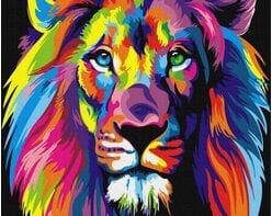 Tęczowy lew