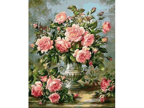Bukiet róż malowanie po numerach