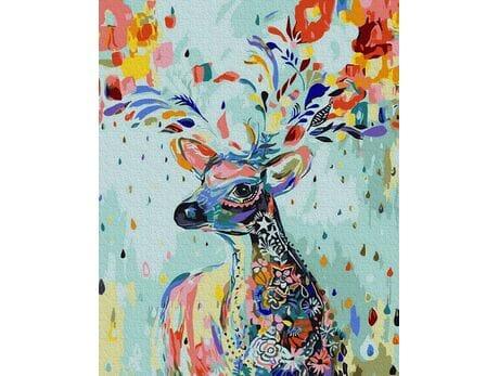 Kwiecisty jeleń malowanie po numerach