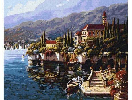Włoski krajobraz malowanie po numerach