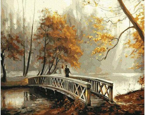 Most w jesiennym parku