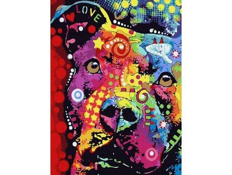 Wierność psa malowanie po numerach