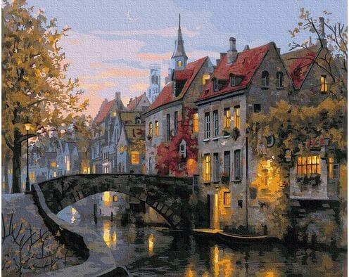 Stare belgijskie uliczki, Brugia