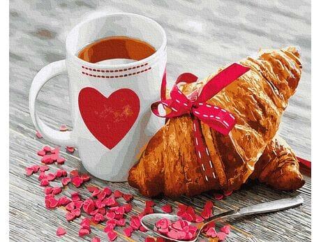 Śniadanie dla ukochanej malowanie po numerach