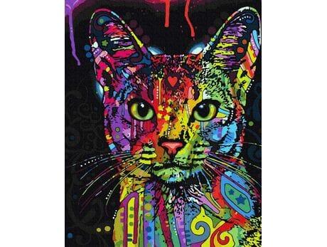 Spojrzenie kota malowanie po numerach