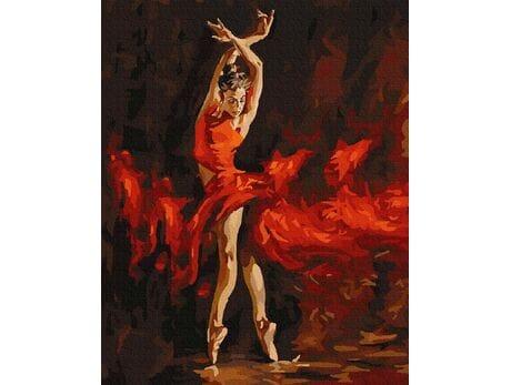 Namiętny taniec malowanie po numerach