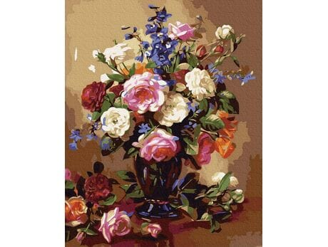 Róże i piwonie malowanie po numerach