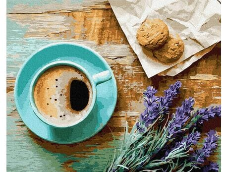 Poranna kawa malowanie po numerach