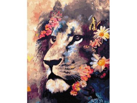 Dobry lew malowanie po numerach