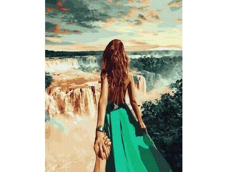 Podążaj za mną - wodospad Niagara malowanie po numerach