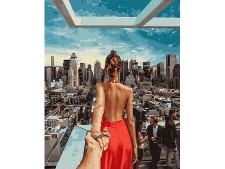 Podążaj za mną - Manhattan malowanie po numerach