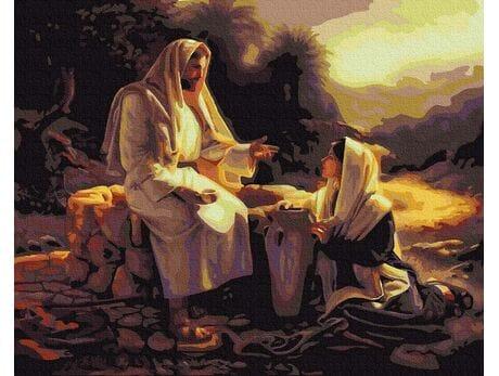 Jezus i Samarytanka malowanie po numerach