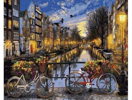 Amsterdam nocą malowanie po numerach