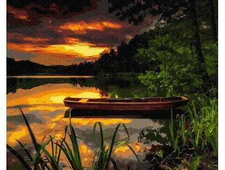 Mazurskie wieczory - Raj na ziemi malowanie po numerach