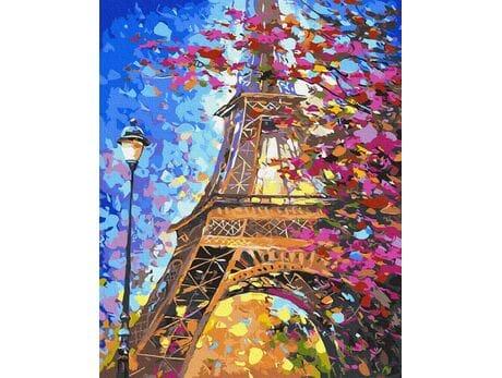 Wiosna w Paryżu malowanie po numerach