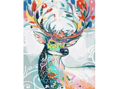 Bajkowy jeleń malowanie po numerach