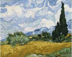 Pole pszenicy z cyprysami (Van Gogh)