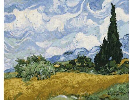 Pole pszenicy z cyprysami (Van Gogh) malowanie po numerach