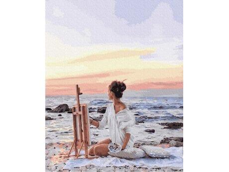 Rysunek słońca malowanie po numerach