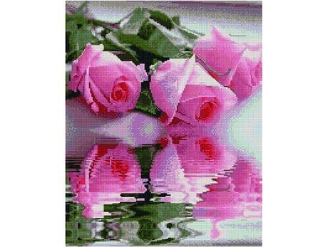 Odbicie róż diamentowa mozaika