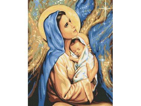 Święta Boża Rodzicielka Maryja malowanie po numerach