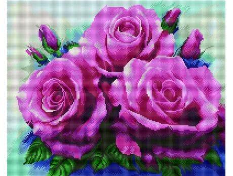 Piękne róże diamentowa mozaika