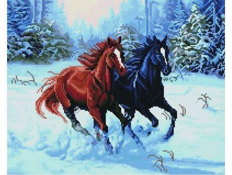 """""""Jak konie w galopie"""" diamentowa mozaika"""