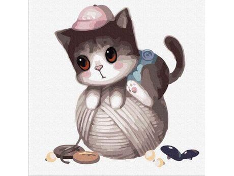Kotek psotek malowanie po numerach