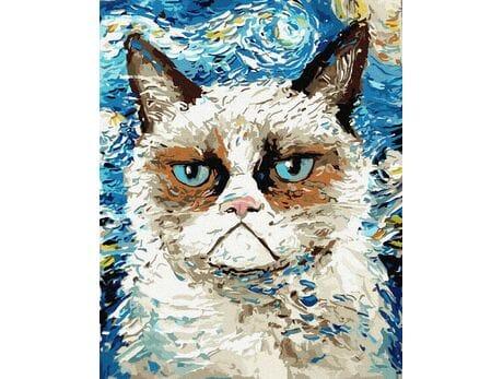 Kot Van Gogha malowanie po numerach